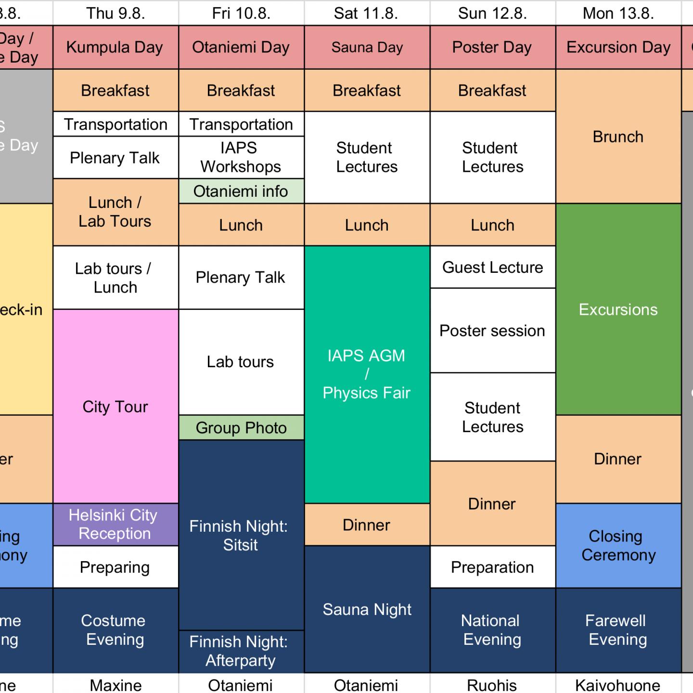 Weekly Programme